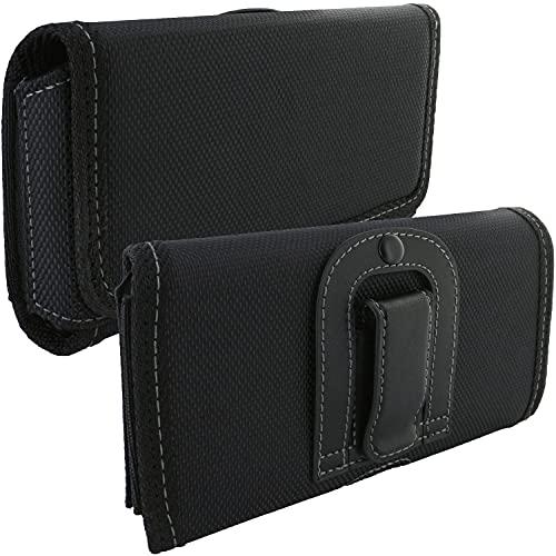 Handy Gürteltasche mit Gürtelclip 5XL / Smartphone Tasche kompatibel mit Gigaset GX290 / LG K61 / Samsung Galaxy A21s A71 M11 M51 / Xiaomi Mi 10T / Mi 10T Lite / Mi 10T Pro - Handytasche schwarz