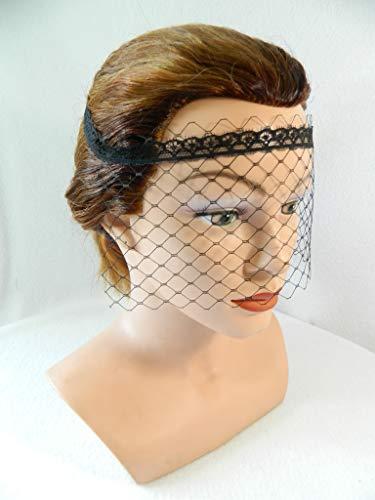 Maske aus Netz Augenbinde schwarz Spitzenmaske Hutnetz Fascinator Gesichts Schleier
