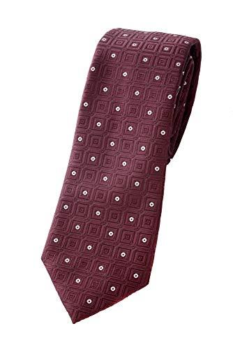 Armani Emporio Cravatta da uomo 100% seta (Burgundy)