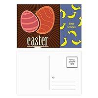 イースター祭赤卵パターン バナナのポストカードセットサンクスカード郵送側20個