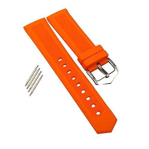 MagiDeal Bracelet de Montre de Rechange en Silicone Souple et Waterproof avec Boucle Barre Barrette de Ressort et 2 Passants Libre - pour Homme et Femme - 18mm
