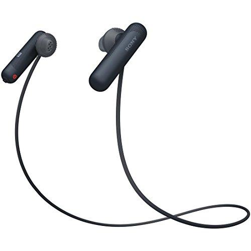 ソニー SONY ワイヤレスイヤホン WI-SP500 BQ : Bluetooth対応 NFC接続対応 防滴仕様 2018年モデル ブラック