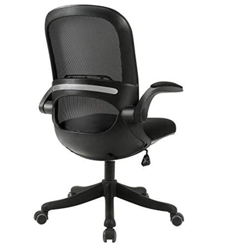 MIAO. Lernstuhl Computerstuhl Home Office Chair Rückenlehne Schreibtisch Studierende Schüler, um den Sattelstuhl aufzuschreiben,Black Frame Black net