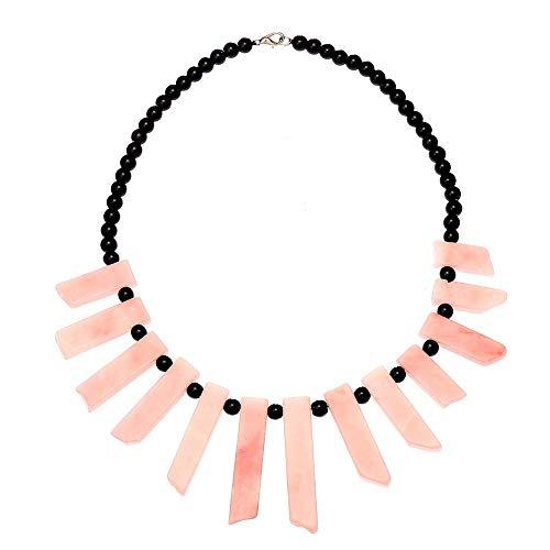 IUNIQUEEN Women Handmade Australia Pink Opal Strand Bead Necklace Choker