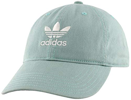 adidas Originals Women's Relaxed Fit Adjustable Strapback Cap, Ash Green/White, One Size