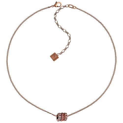 Konplott Halskette Colour Ring Copper Coralline Rose