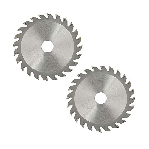 2 unids 24 dientes de carburo de corte de hojas de sierra circular herramienta rotativa disco de corte para madera de 85 x 15 mm/3.35 x 0.59 pulgadas