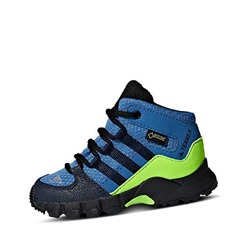adidas Jungen Unisex-Kinder Terrex Mid GTX Trekking- & Wanderstiefel, Blau (Azretr/Maruni/Limsol 000), 26 EU