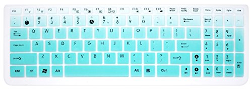 Keyboard Cover Skin Compatible with ASUS 15.6 inch F555 F554LA K501UX K501LX K501UW GL502VY GL502VT/GL552VW GL752VW Q503UA Q524UQ/Q534UX Q552UB Q553UB/Q534UX X540SA X751LAV X550ZA ... (Ombre Mint)