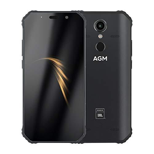 AGM A9 Robustes Mobiltelefon IP68 Wasserdicht 4 GB 32 GB 5.99 Zoll 18: 9 FHD + Snapdragon 450 Android 8.1 16MP + 12MP Kameras 5400mAh NFC-Fingerabdruck entriegelt 4G LTE-Smartphone