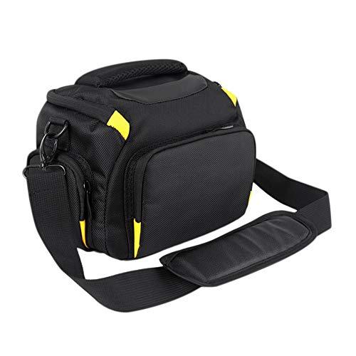XXCLZ DSLR Cámara Impermeable Bolsa Caso para Sony A7 II III A7R2 A58 Nikon P900 Caja del Hombro de Canon 750D 200D 5D 6D D7200 D7500 D3400 D90,Black