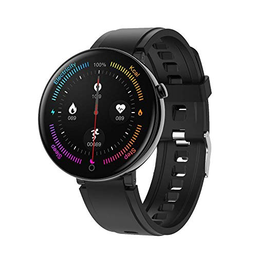 Smart Watch Ronde Touch Screen Smartwatch Hartslag Intelligente Fitness Tracker IP67 Sport Mode Armband Mannen