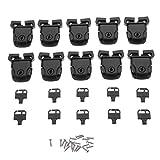 ILS – Juego de 10 tapas para bañera de hidromasaje spa Kit de cierre reparación roto Clip cerradura llave hardware con tornillo