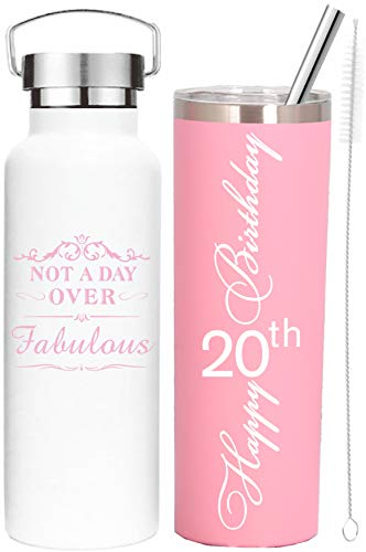 20th Birthday Gifts for Girl,20 Birthday Gifts,20th Birthday Tumblers,Gifts for 20th Birthday Girl,20th Birthday Decorations,Birthday Gifts for 20 Year Old Daughter, 20th Birthday Presents for women