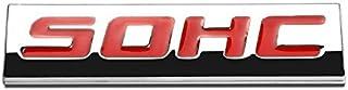 UrMarketOutlet SOHC Red/Chrome Aluminum Alloy Auto Trunk Door Fender Bumper Badge Decal Emblem Adhesive Tape Sticker