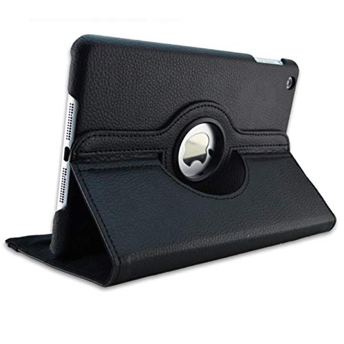 For iPad 3 A1416 A1430 A1403 Cover 360 Degree Rotation PU Leather for ipad case 3 2012 Release Stand Holder Case-for iPad 2 3 4 black