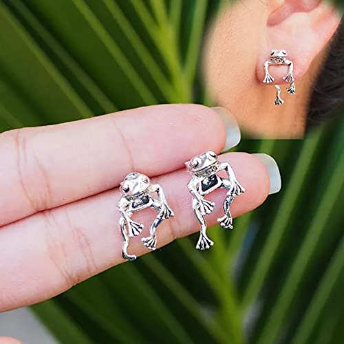 YCEOT Cute Frog Earrings for Women Girls Animal Gothic Punk Stud Earrings Piercing Female Korean Jewelry Brincos One Pair