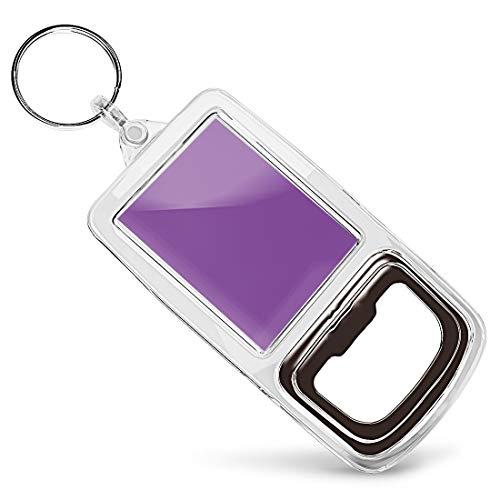 Acrylic Bottle Opener Keyring - Deep Azure Purple Blue Colour Block |Keychain|Keyring|Charm|Gift #44858