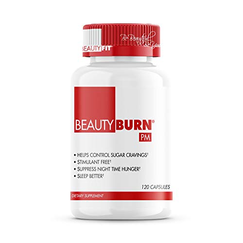 BeautyFit - BeautyBurn PM Evening Appetite and Sugar Suppressant Capsules - Increases Metabolism - Regulates Your Appetite - Priming Sustained Energy Level - 120 Count
