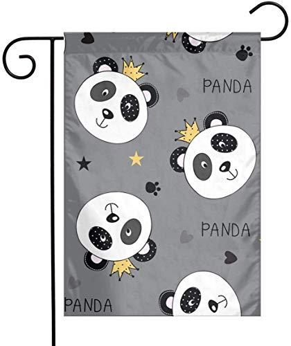 gdingxiantengsubaihuoshang Drapeau de Jardin d'été - Drapeau de Jardin Double Face Princess Panda pour égayer Votre Maison 12 'x18'