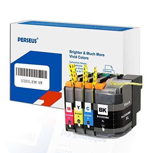 PERSEUS Druckerpatronen Kompatibel für Brother LC22U XL Multipack BK/C/M/Y, Arbeiten mit DCP-J785DW, MFC-J985DW Drucker Tintenpatronen, Hohe Ausbeute