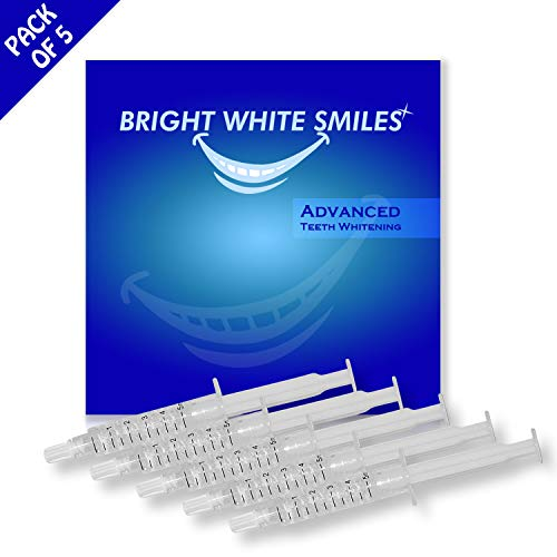 Bright White Smiles Teeth Whitening Kit, 35% Carbamide Peroxide Gel for Professional Results at Home, Whiter Refill System Includes 5x 5cc/ml Syringes (Philips Zoom Nite White 22 3 Syringes)