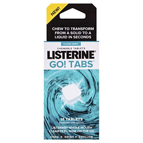 Listerine Listerine GO! TABS Clean Mint Chewable Tablets 16s, 0.037999999999999999 kilograms