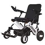 Conveniente silla de ruedas portátil de viaje silla de ruedas eléctrica inteligente plegado automático liviano anciano discapacitado scooter silla de ruedas con radio Bluetooth inalámbrica Bluetooth
