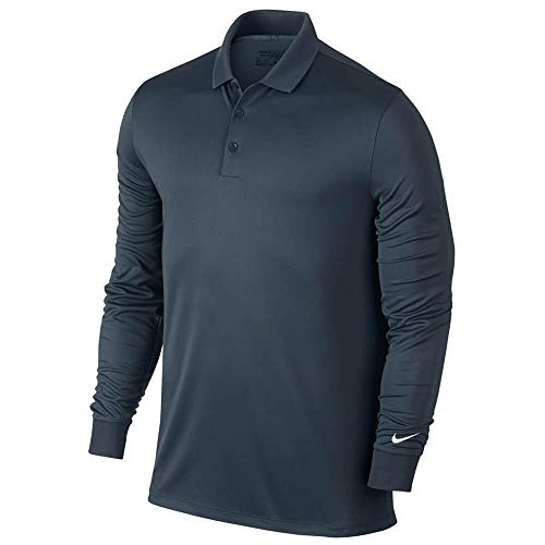 Nike Golf Closeout Men's Victory Longsleeve Polo- Assorted 725514 (Armory Navy, Small)