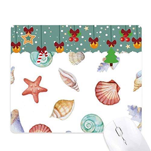 Kleurrijke sint-jakobsschelp mariene leven Illustratie muismat spel Office Mat Kerstmis Rubber Pad