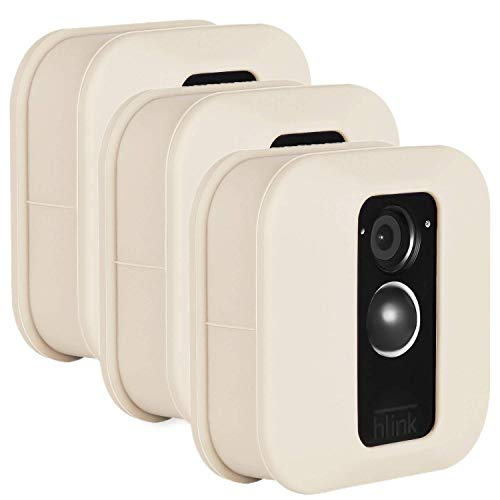 Wasserstein Bunte schützende Silikonhülle, kompatibel mit Blink XT & XT2-Außenkamera - Tarnen und Schützen Sie Ihre Heimkamera (3er-Pack, Beige)