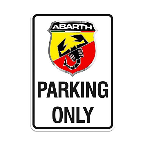 Abarth 21400 Parking Only Schild 28 x 40 cm