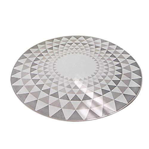 Vosarea - Tappeto da pavimento, rotondo, antiscivolo, ad asciugatura rapida, per soggiorno, colore: grigio chiaro