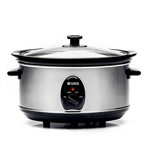 Haden 189677, Stainless-Steel Slow Cooker, 3 Settings, 200W, 2 Year Warranty (4.5 LTR)