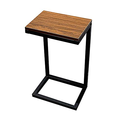 NBVCX Decoración de Muebles Mesas auxiliares de Hierro multifunción Forjado Europeo Idea Simple Mesita de Noche móvil Soporte de exhibición de Ventana de Vidrio para el hogar H60CM