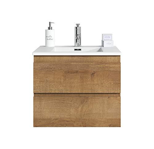 Badezimmer Badmöbel Set Angela 60cm F. Oak - Unterschrank Schrank Waschbecken Waschtisch