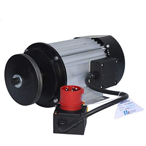 Elektromotor 400V 4500 Watt B3 Bauform mit KOA7 Schalter/Steckdoseneinheit, Phasenwender, Motorbremse und Sägeblattflansch, für Wippkreissäge Kreissäge Wippsäge