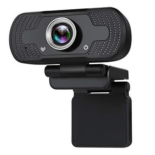 Webcam con micrófono, cámara web de enfoque automático HD 1080P, micrófono de reducción de ruido integrado, cámara USB, cámara web Pro Streaming para grabar, llamar, conferencia, juegos Webcam