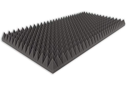 Amortiguador de espuma tipo pirámide, 100 x 50 x 7, para aislamiento acústico