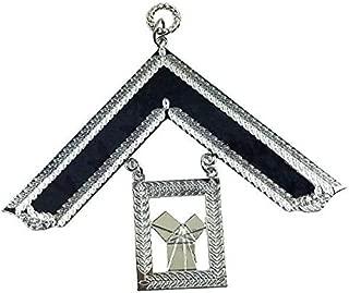 Bricks Masons Masonic Craft Lodge Officer Past Master Collar Jewel Silver