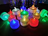 LANKER 24 Pack LED Tea Lights Candles – 7 Color Changing Flameless Tealight Candle – Long Lasting Battery Operated Fake Candles – Decoration for Wedding, Halloween and Christmas (Multi-Color -24pcs)