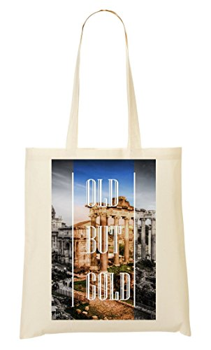 Old But Gold | Series | Rome Town | Popular Words | Osom Quotes | Cool T Shirt | Nice To | Super | Beautiful Landscape | Yolo Swag Tragetasche Einkaufstasche