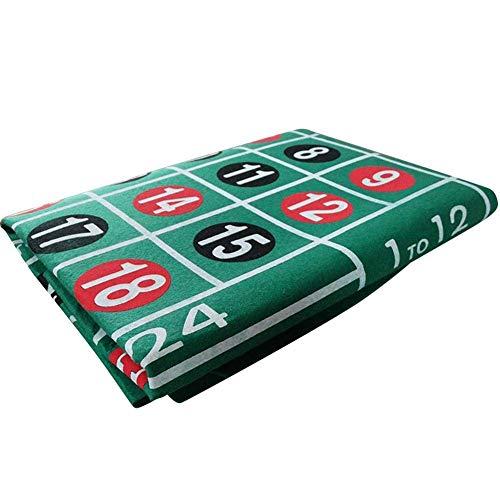 belukies Roulette - Riesiges Roulette-Rad - Roulette-Set für Casino-Spiele - Komplettes Roulette-Set von London (60120 cm)