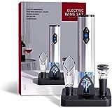 CENT Sacacorchos Electrico Abridor Botellas de Vino Eléctrico Profesional Abrebotellas Eléctrico de Automático Indicador LED con Base de Almacenamiento