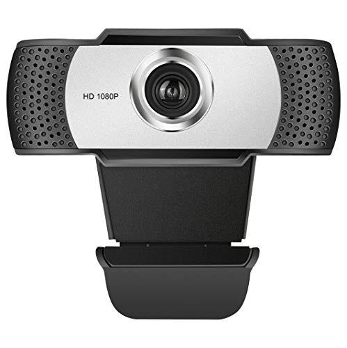 JAMMYLIZARD Webcam 1080p 30fps per PC con Microfono Integrato USB 2.0 Web Camera Full HD per Streaming Home Office Laptop Desktop Monitor Fisso Clip-On
