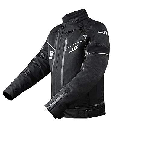JS Jollisport Giacca Moto 4 stagioni Top Double J Uomo - Nero - 2XL