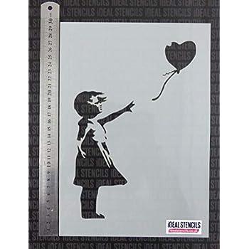 Banksy flower thrower Stencil MYLAR A4 sheet strong reusable art craft wall deco