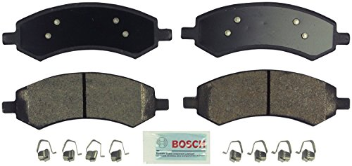 Bosch BE1084H Blue Disc Brake Pad Set with Hardware for Select Chrysler, Dodge, Mitsubishi, and RAM SUVs and Trucks - FRONT