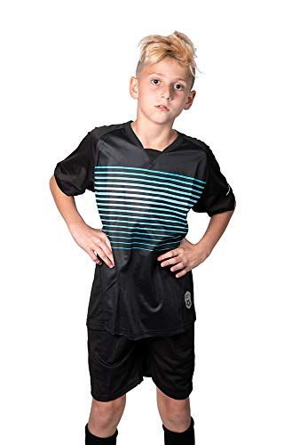 Premium Soccer Uniforms for Kids, Black, Medium