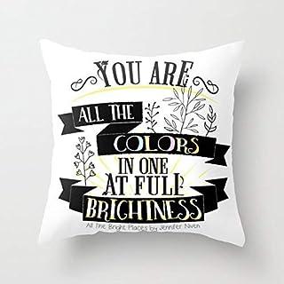All The Bright Places by Jennifer Niven Book Quote Typografie Decoratieve Gooi Kussensloop Kussensloop